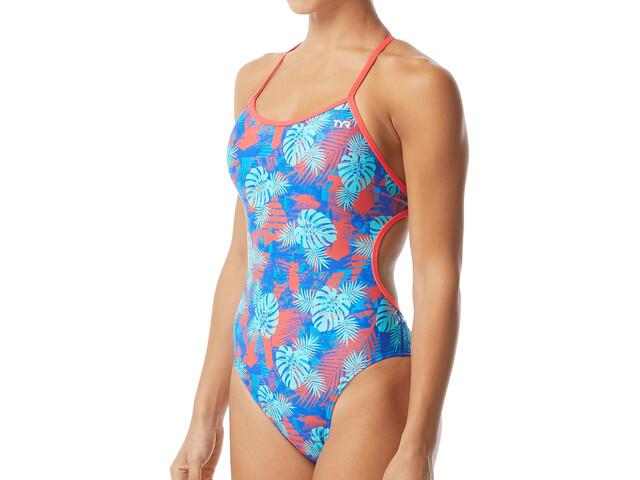 TYR Tortuga Crosscutfit Tieback Swimsuit Women, teal/multi